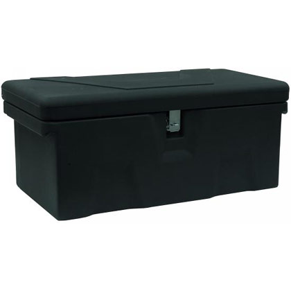 Picture of 2.6 Cubic Foot Black Polymer All-Purpose Chest - One Zinc Hasp