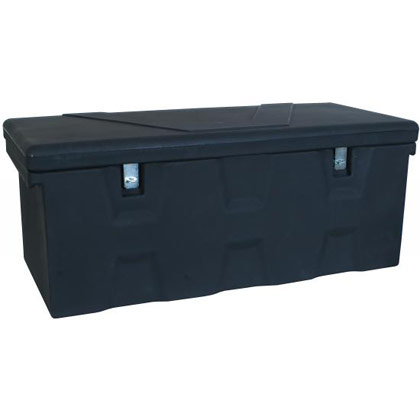 Picture of 6.3 Cubic Foot Black Polymer All-Purpose Chest - Two Zinc Hasp