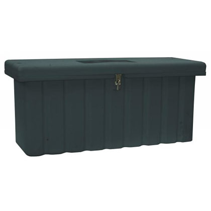 Picture of 8.4 Cubic Foot Black Polymer All-Purpose Chest - One Zinc Hasp