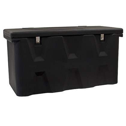 Picture of 15.8 Cubic Foot Black Polymer All-Purpose Chest - Two Zinc Hasp