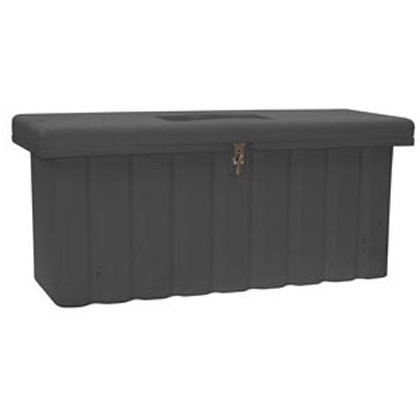 Picture of 18.8 Cubic Foot Black Polymer All-Purpose Chest - Two Zinc Hasp