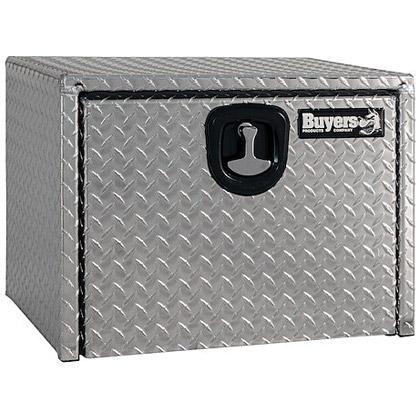 "Picture of Aluminum Diamond Tread 3-Point Latch Underbody Toolbox (18"" x 18"" x 24"")"