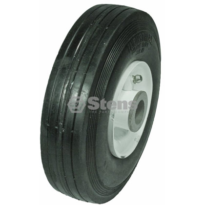 Picture of Heavy Duty Steel Deck Wheel with Grease Zerk - 6-200