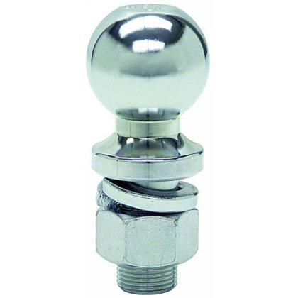 "Picture of 5000# Chrome Hitch Towing Ball - 2"" x 1"" x 2-1/8"""