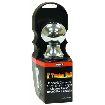 "Picture of 10000# Chrome Hitch Towing Ball - 2"" x 1"" x 2-3/4"""