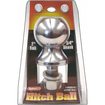 """Picture of 3500# Chrome Hitch Towing Ball - 2"""" x 3/4"""" x 2-1/8"""""""