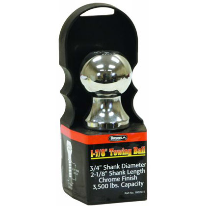 "Picture of 3500# Chrome Hitch Towing Ball - 1-7/8"" x 3/4"" x 2-1/8"""