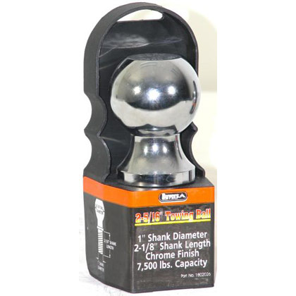 "Picture of 7500# Chrome Hitch Towing Ball - 2-5/16"" x 1"" x 2-1/8"""