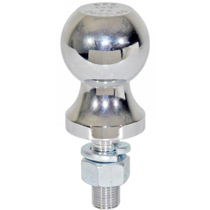 "Picture of 2000# Chrome Hitch Towing Ball - 1-7/8"" x 5/8"" x 1-3/4"" - PACK OF 10"
