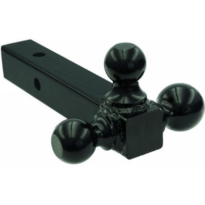 "Picture of Tri-Ball Solid Hitch with 1-7/8"", 2"" & 2-5/16"" Black Towing Balls"