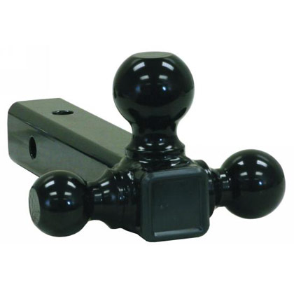"Picture of Tri-Ball Tubular Hitch with 1-7/8"", 2"" & 2-5/16"" Black Towing Balls"
