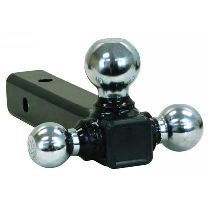 "Picture of Tri-Ball Tubular Hitch with 1-7/8"", 2"" & 2-5/16"" Chrome Towing Balls"