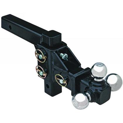 "Picture of Adjustable Tri-Ball Hitch with 1-7/8"", 2"" & 2-5/16"" Chrome Towing Balls"