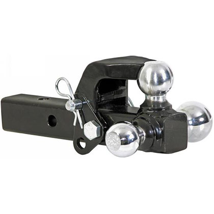 "Picture of Adjustable Tri-Ball Multi-Ball Hitch with Pintle Hook and 1-7/8"" - 2"" - 2-5/16"" Chrome Towing Balls"