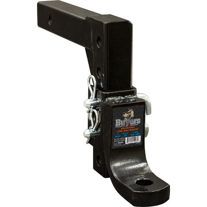 "Picture of 4-Position Adjustable Ball Mount with 11"" Max Drop and 9-3/4"" Max Lift - Solid Shank"