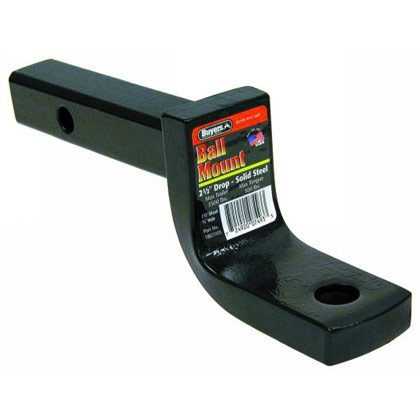"Picture of 3500# 1-1/4"" Towing Ball Mount with 2-1/2"" Drop x 7"" Length - Black Powder Coat Finish"