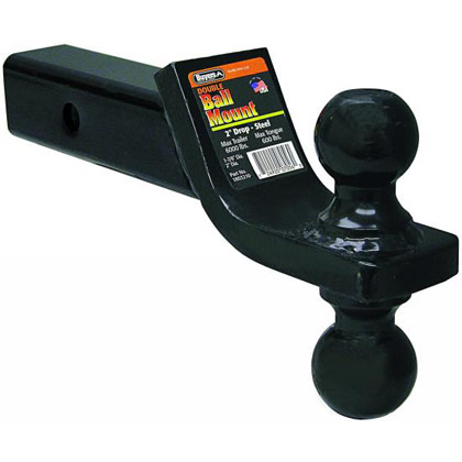 """Picture of Double Ball Mount with 2"""" and 2-5/16"""" Towing Balls - 2"""" Drop x 8"""" Length"""