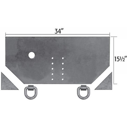 "Picture of 1/2"" x 34"" x 15.5"" Fabricators Hitch Plate"