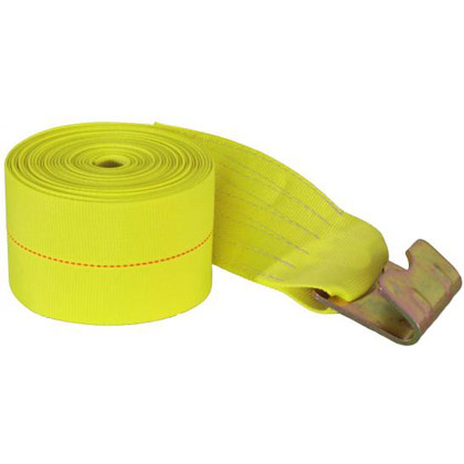 "Picture of 4"" x 27' Winch Strap with Flat Hook"
