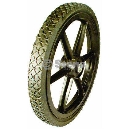 Picture of 6 Spoke Black Plastic High Wheel - 16-175