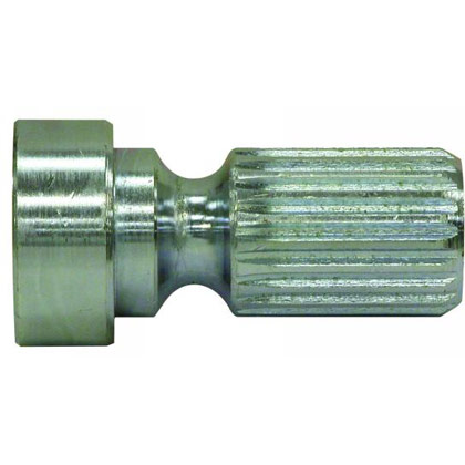Picture of Male 21 Spline x 1-13/16 Male Stub Shaft - Zinc Plated