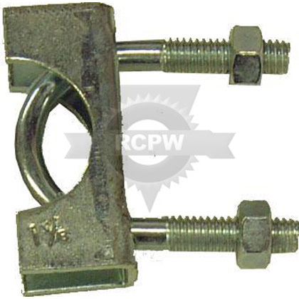 "Picture of 1-1/8"" U-Bolt Style Zinc Clamp"