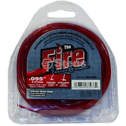 "Picture of .095"" ""Fire"" Trimmer Line - Clamshell"
