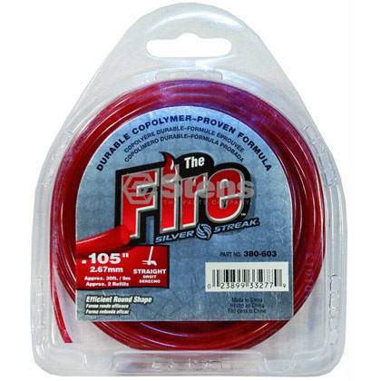 "Picture of .105"" ""Fire"" Trimmer Line - Clamshell"