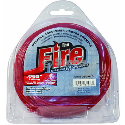 "Picture of .065"" ""Fire"" Trimmer Line - 1/2 lb. Donut"
