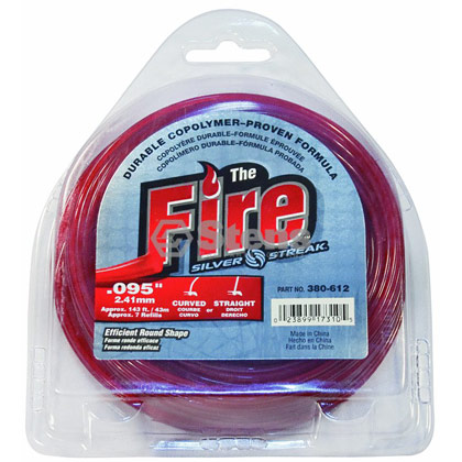 "Picture of .095"" ""Fire"" Trimmer Line - 1/2 lb. Donut"