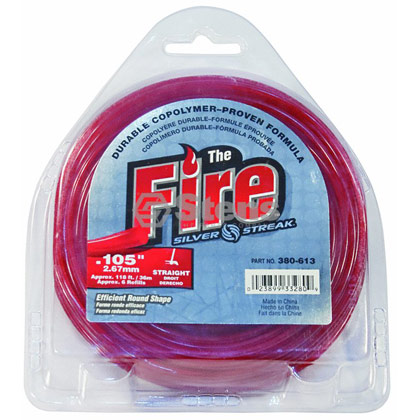 "Picture of .105"" ""Fire"" Trimmer Line - 1/2 lb. Donut"