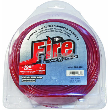 "Picture of .105"" ""Fire"" Trimmer Line - 1lb. Donut"