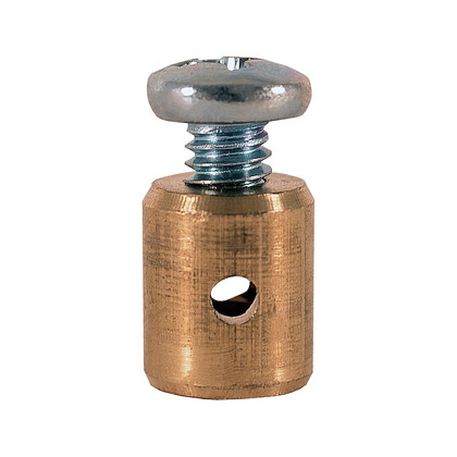 "Picture of 5/16"" Diameter Brass Barrel Throttle Stop with .088 Hold"