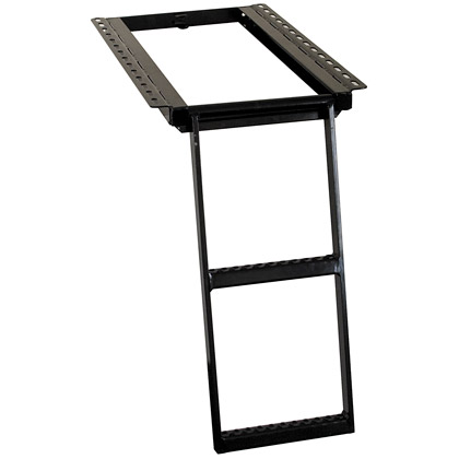 Picture of 2 Rung Black Powder Coated Retractable Step