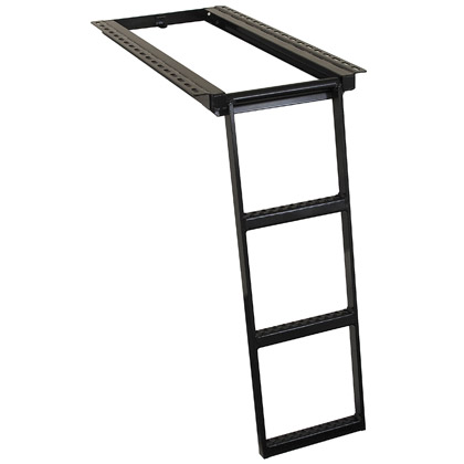 Picture of 3 Rung Black Powder Coated Retractable Step