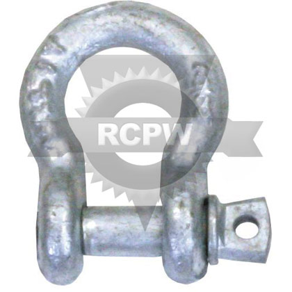 "Picture of 3/8"" Galvanized Anchor Shackle with Screw Pin"