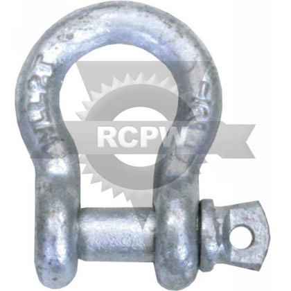 "Picture of 1/2"" Galvanized Anchor Shackle with Screw Pin"