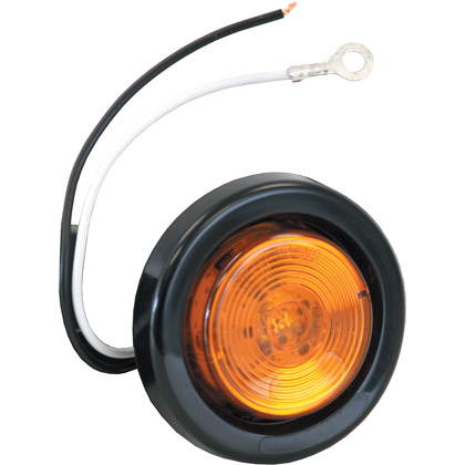 "Picture of 2"" Amber 1 LED w/ Grommet & Plug"