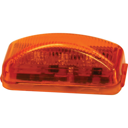"Picture of 2-1/2"" 3 LED Amber Rectangular Surface Mount Marker Light - PACK OF 10"