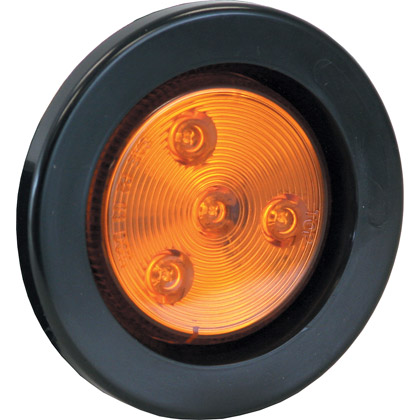 "Picture of 2.5"" Amber 4 LED Round Marker Light w/ Grommet & Plug"