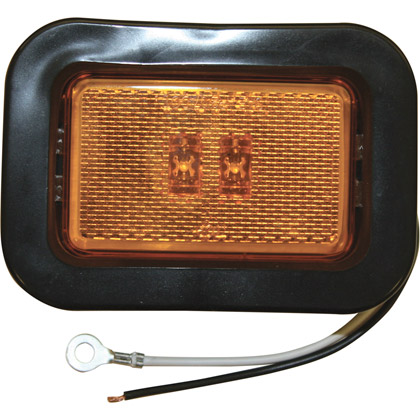 "Picture of 3-1/8"" Rectangular 2 LED Amber Marker Light"