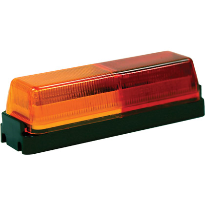 "Picture of 3-3/4"" 2 LED Amber/Red Rectangular LED Clearance Fender Light with Bracket"
