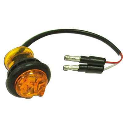 Picture of 1 LED, Amber, 12V, grommet and plug