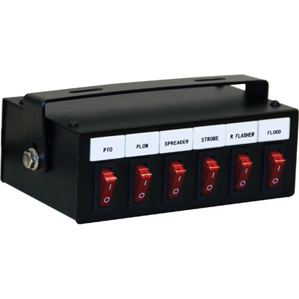 Picture of 6-Function Backlit Pre-wired Switch Box with Relay & Circuit Breaker
