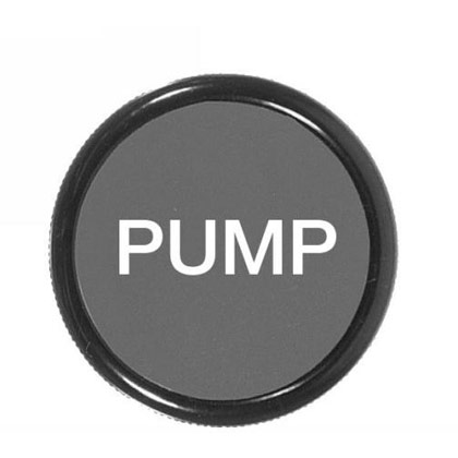 "Picture of 2"" Cable Knob - Lettered ""PUMP"" - 3/8""-24 Thd."