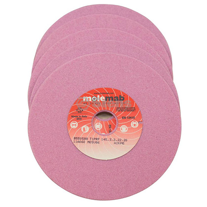 "Picture of Molemab 5-3/4"" x 3/16"" x 22mm Grinding Wheel - Pack of 5"