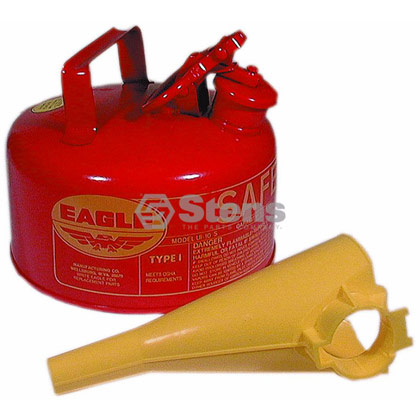 Picture of 1 Gallon Metal Safety Gas Can with Funnel