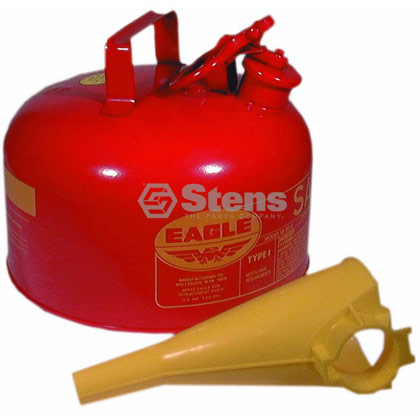Picture of 2 Gallon Metal Safety Gas Can with Funnel