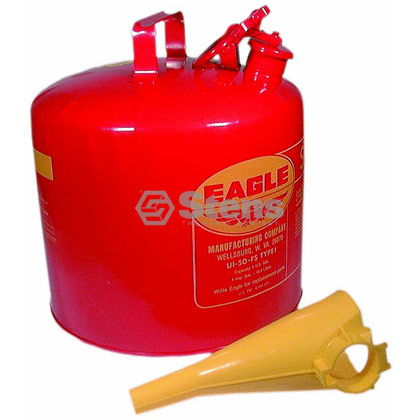 Picture of 5 Gallon Metal Safety Gas Can with Funnel