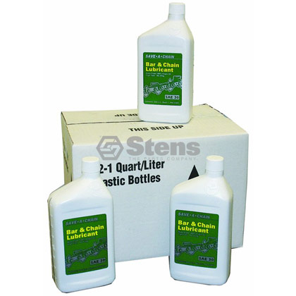 Picture of 12 Quart Bottles of Bar and Chain Oil (Summer Formula)